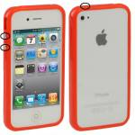 IPHONE 4 BUMPER IN GOMMA ROSSO