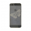 IPHONE 5 CUSTODIA LUXURY BUTTERFLY BIANC