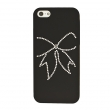 IPHONE 5 CUSTODIA LUXURY BOW NERA