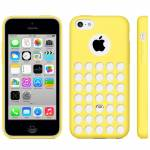 IPHONE 5C CASE TRAFORATO GIALLO